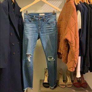 "Madewell 9"" High Rise Skinny (petite) Jeans"